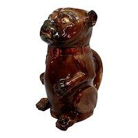 Majolica 19th c. Pug Dog or Bulldog Pitcher