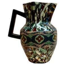 Gerbino Mosaic Pottery large Pitcher