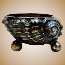 800 Silver Salt Dip Sea Shell Figural