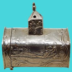 Silver Figural Pillbox Match Box Netherlands