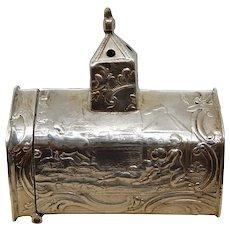 Silver Figural Pillbox Match Box Netherlands