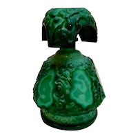 Schlevogt Malachite Ingrid Glass Perfume Bottle 1935 original
