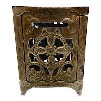 Cast Iron Safe Bank pat. 1886