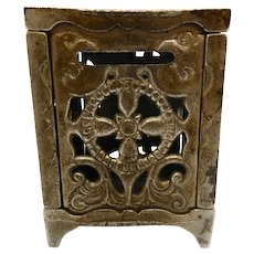Cast Iron Safe Bank pat. 1886