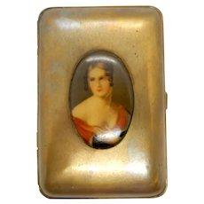 Mondaine Compact with Celluloid Portrait 1930's