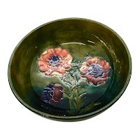William Moorcroft Pottery Bowl Anemone, 5.25 inches