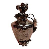 Silvered Porcelain Art Nouveau Vase