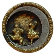 Antique Button Clown and Woman, from Opera?