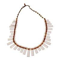 Matisse Copper White Enamel Necklace 1950's