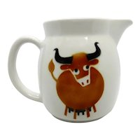 Arabia Porcelain Cow Steer Ox Pitcher Kaj Franck