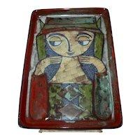 Michael Andersen Pottery Plaque Persia Glaze Mid Century