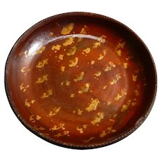 Redware Slipware Pa. Pie Plate 9 inches