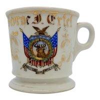 Antique Shaving Mug Patriotic Foresters of America