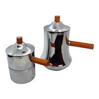 Art Deco Farberware and Bakelite Coffee Tea set personal size