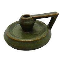 Fulper Art Pottery Mission Period Green Chamber Stick