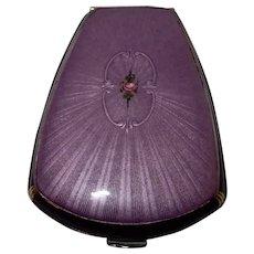 Purple Enamel Compact Evans c. 1925