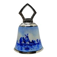 Sterling Silver Enamel Dinner Bell