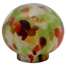 Czech Art Glass Globe for art deco lamp
