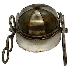 Equestrian Inkwell Jockey Hat 19th Century
