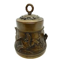 Steeple Chase Horse Race Bronze Humidor  3-D sculpture