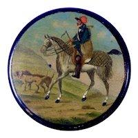 Equestrian Horse Theme Lacquer Snuff Box