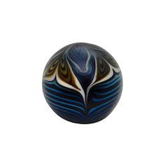 Vandermark Paperweight Pulled Feather 1980