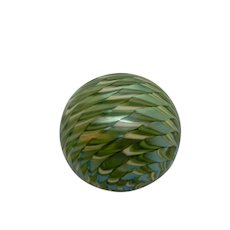 Orient & Flume Paperweight Green iridescent Zipper design