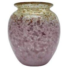 Monart Cluthra Purple and Aventurine Vase Scottish