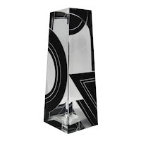 Karl Palda Art Deco Black Enamel Large Vase