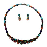 Native American Jewelry Set Great Inlay, Touch of Santa Fe