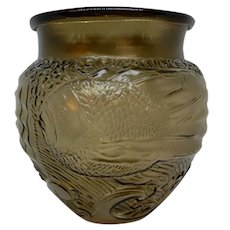 Art Deco Art Glass Vase French Lalique Style
