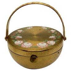 Figural Vintage Compact, Handled Basket