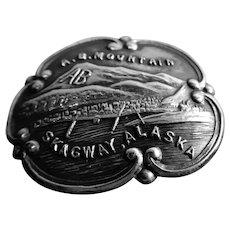 Sterling Hatpin Skagway Alaska A.B. Mountain Zigzag Pin