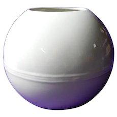 Trenton Potteries White Orbit Art Deco Vase
