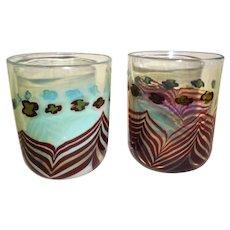 Contemporary Studio Art Glass 1973 Dudley Giberson 2 pieces