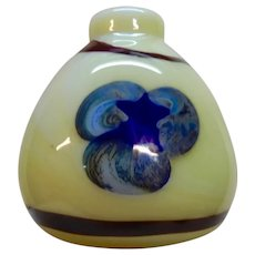 George Thiewes Contemporary Art Glass Vase 1975