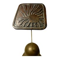 Arts and Crafts Hatpin Copper with Maker's Mark
