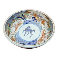 Imari Bowl Mythological Beast 19th c.