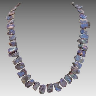 """Luscious Frosty Lavender Iridescent Cultured Keishi Pearls 19.25"""" Necklace !"""