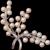 "FABULOUS Large 2"" Japanese Akoya Spray of Pearls Vintage Sterling Silver Brooch, 1960's"