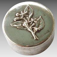 800 Silver Repousse Pill Trinket Rosary Box