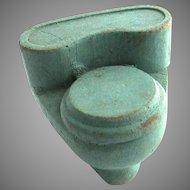 "Vintage Strombecker Dollhouse Green Bathroom Toilet 3/4"" Scale"