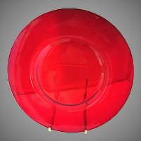 "Rare Carmen Red Cambridge Elegant Glass 6"" plates Set of 12"