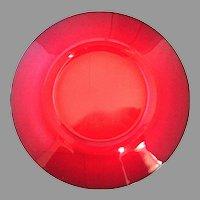 Rare Carmen Red Cambridge Elegant Glass Luncheon Plates Lunch 8 Inch Set Of 10