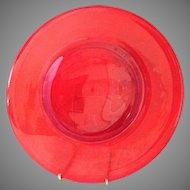Rare Carmen Red Elegant Glass 10 inch Dinner plates set of 12 Mint