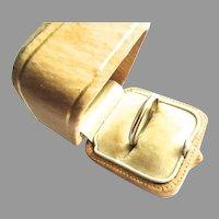 Art Deco 14K White Gold Wedding Band Stacking Ring