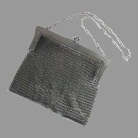 Antique Gun Metal Chain Mail Maille Mesh Purse Evening Bag