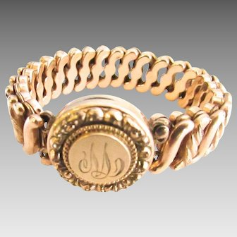 Gold Filled Expansion Locket Carmen Bracelet Monogram M