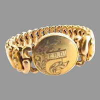 Gold Filled Carmen Expansion Bracelet Monogram EBD American Queen