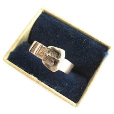 Victorian 10K Gold Buckle Ring